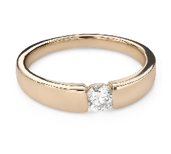 """Engagement ring with brilliant """"Between the rocks 71"""""""