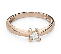 """Engagement ring with brilliant """"Goddess 154"""""""