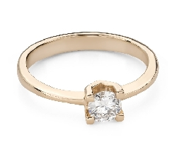"""Engagement ring with brilliant """"Strength 155"""""""