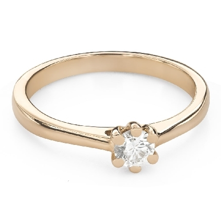 """Engagement ring with brilliant """"The queen 116"""""""