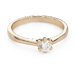 """Engagement ring with brilliant """"The queen 118"""""""
