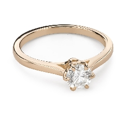 """Engagement ring with brilliant """"The only one 155"""""""