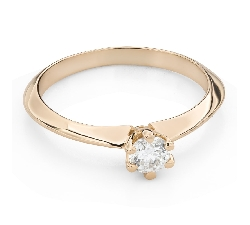 """Engagement ring with brilliant """"The queen 123"""""""