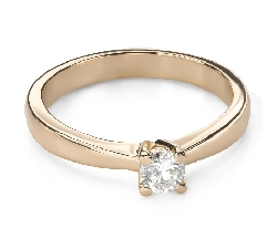 """Engagement ring with brilliant """"Goddess 251"""""""