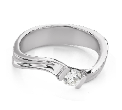 """Engagement ring with brilliant """"Intertwined destinies 69"""""""