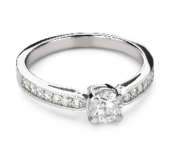 """Engagement ring with brilliant """"Grace 156"""""""