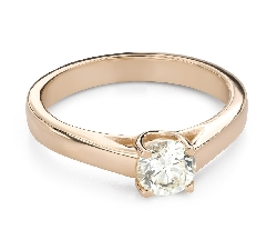 """Engagement ring with brilliant """"Intertwined destinies 70"""""""