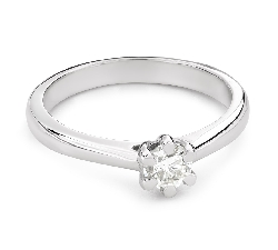 """Engagement ring with brilliant """"The queen 124"""""""