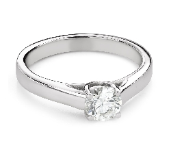 """Engagement ring with brilliant """"Intertwined destinies 71"""""""