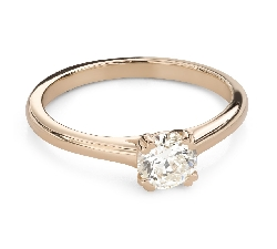 """Engagement ring with brilliant """"Goddess 253"""""""