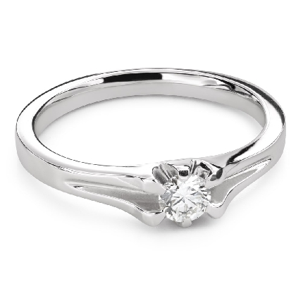 """Engagement ring with brilliant """"The only one 158"""""""