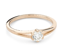 """Engagement ring with brilliant """"The only one 159"""""""