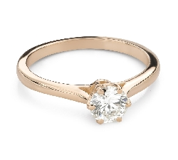 """Engagement ring with brilliant """"The only one 160"""""""