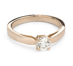 """Engagement ring with brilliant """"Goddess 256"""""""
