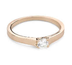 """Engagement ring with brilliant """"Goddess 257"""""""