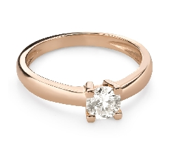"""Engagement ring with brilliant """"Goddess 261"""""""