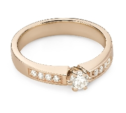 """Engagment ring with brilliants """"Grace 163"""""""