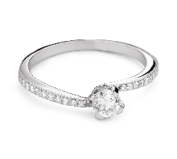 """Engagement ring with brilliant """"In love 71"""""""
