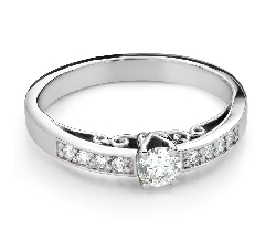 """Engagement ring with brilliant """"The only one 163"""""""