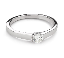 """Engagement ring with brilliant """"Goddess 263"""""""