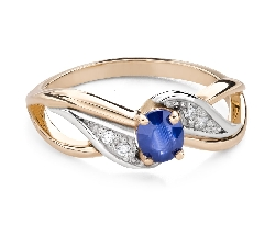 """Engagement ring with gemstones """"Sapphire 45"""""""