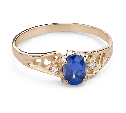"""Engagement ring with gemstones """"Sapphire 46"""""""