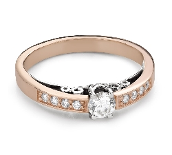 """Engagment ring with brilliants """"The only one 164"""""""