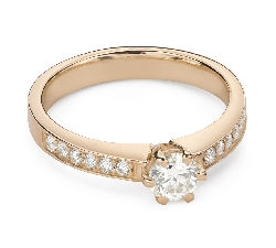"""Engagment ring with brilliants """"Grace 165"""""""