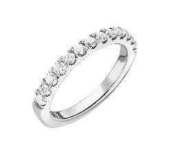 """Auksinis žiedas su briliantais """"Deimantinė juostelė 60"""""""