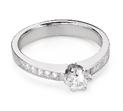 """Engagement ring with brilliant """"Grace 166"""""""