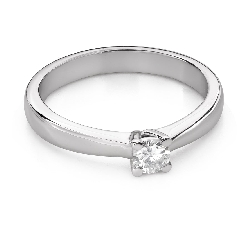 """Engagement ring with brilliant """"Goddess 266"""""""