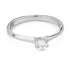"""Engagement ring with diamond """"The queen 126"""""""
