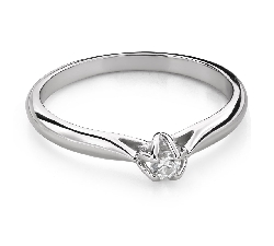 """Engagement ring with brilliant """"Intertwined destinies 72"""""""