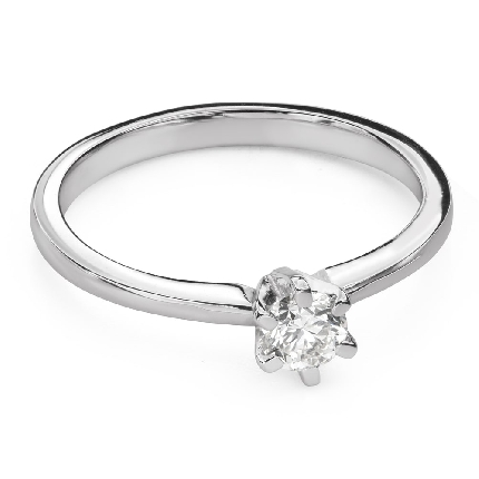 """Engagement ring with diamond """"The queen 127"""""""