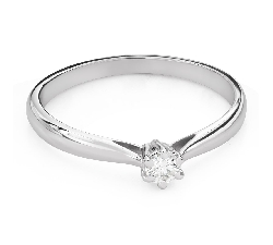 """Engagement ring with diamond """"The queen 128"""""""