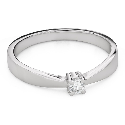 """Engagement ring with brilliant """"Goddess 268"""""""