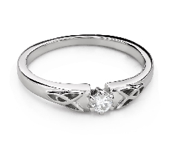 """Engagement ring with brilliant """"The only one 167"""""""