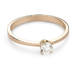 """Engagement ring with brilliant """"Purity 62"""""""