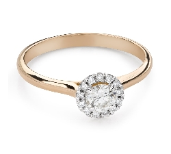 """Engagment ring with brilliants """"Diamond flower 52"""""""