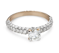 """Engagment ring with brilliants """"Grace 170"""""""