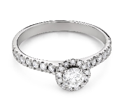 """Engagement ring with brilliant """"Diamond flower 53"""""""