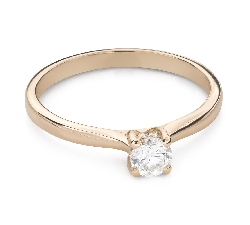 """Engagment ring with brilliants """"Goddess 272"""""""