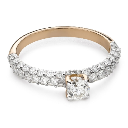 """Engagment ring with brilliants """"Grace 173"""""""