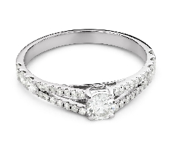 """Engagement ring with brilliant """"Embraced 35"""""""