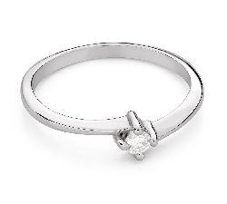 """Engagement ring with brilliant """"In love 73"""""""
