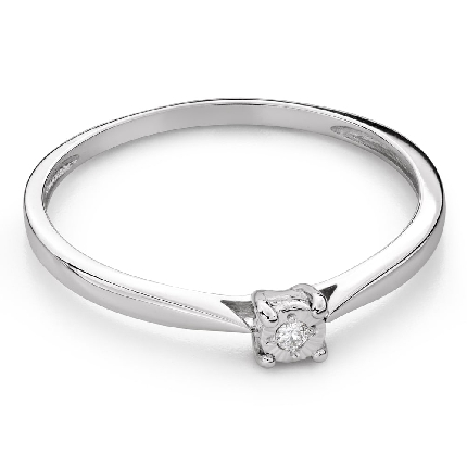 """Engagement ring with brilliant """"Lover 153"""""""