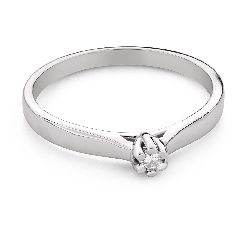 """Engagement ring with diamond """"The queen 130"""""""