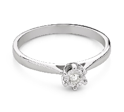 """Engagement ring with brilliant """"Lover 154"""""""