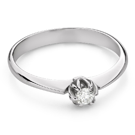 """Engagement ring with brilliant """"The only one 168"""""""