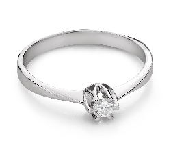"""Engagement ring with brilliant """"Purity 63"""""""